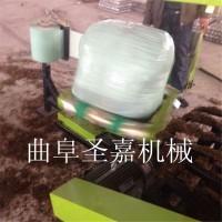 青贮打捆包膜机操作视频  青储饲料打包机型号齐全